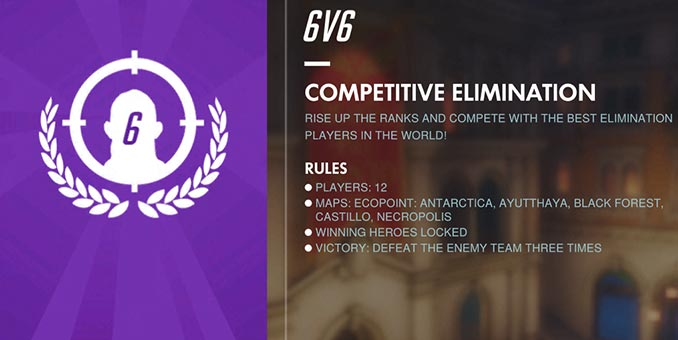 Overwatch Competitive 6v6 Elimination
