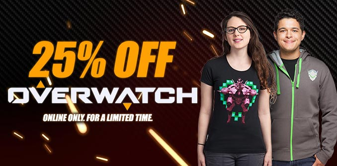 Overwatch Sale at ThinkGeek