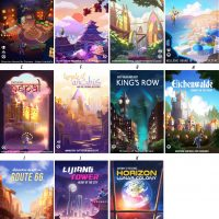 Overwatch Travel Poster Set
