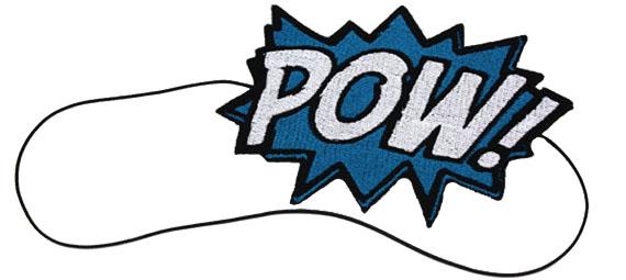 POW Cartoon Comic Headband