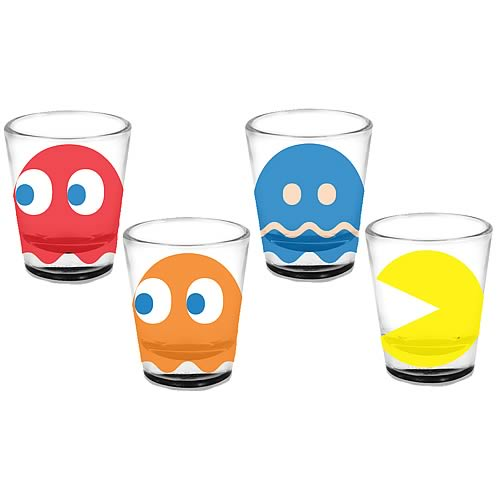 Pac-Man Shot Glass 4-Pack