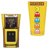 PacMan Arcade Game Cabinet and Characters Pint Glasses