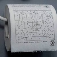 Paint By Numbers Toilet Paper