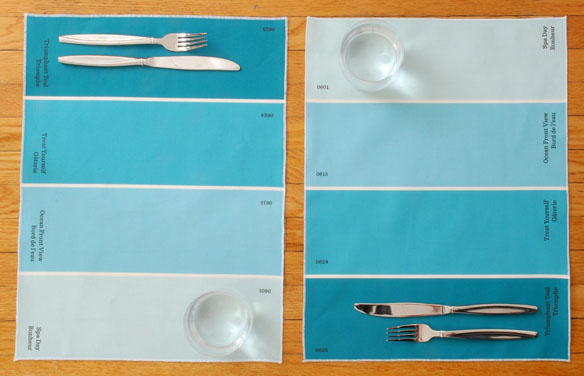 Paint Chip Placemats