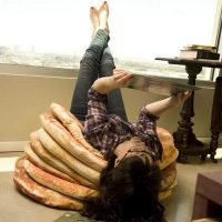 Pancake Floor Pillows by Todd von Bastiaans