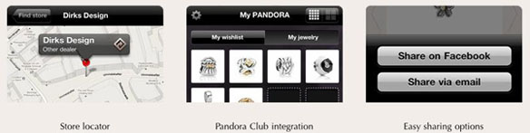 Pandora Jewelry App for iPhone