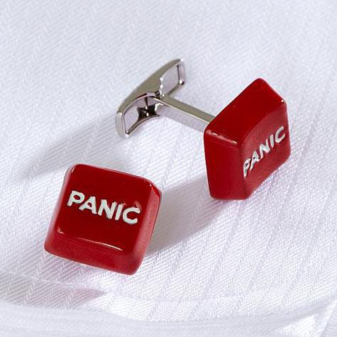 Panic Button Cufflinks