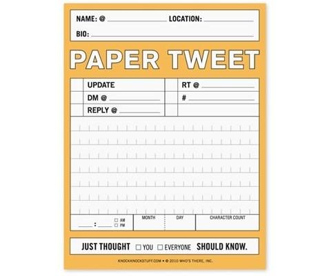 Paper Tweet Nifty Note Pad