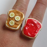 Peanut Butter Banana and Strawberry Jelly Best Friend Rings