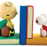 Peanuts Charlie Brown and Snoopy Bookends