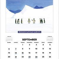 Penguins Hate Stuff 2015 Wall Calendar