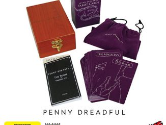 Penny Dreadful Tarot Cards in Engraved Wood Box and Velvet Bag - Set of 78