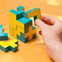 Pentaminoes 3D Puzzle Cubes Game