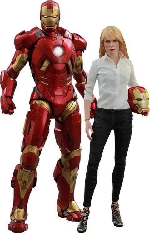 Pepper Potts and Iron Man Mark IX Sixth-Scale Figures