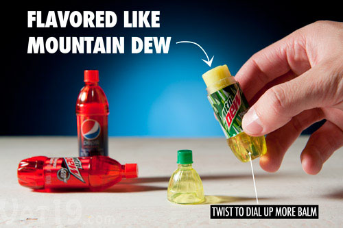 Pepsi and Mountain Dew Scented Lip Balms