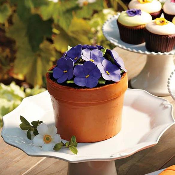 Perfect Endings Blooming Flower Pot Cake