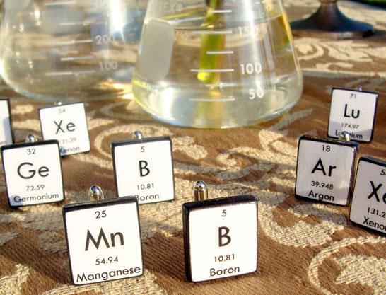 Periodic Table Cufflinks