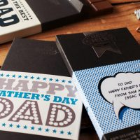 Personalized Fathers Day Chocolate Bar