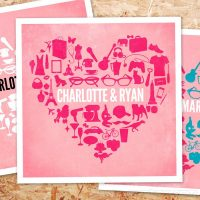Personalized Heart Poster