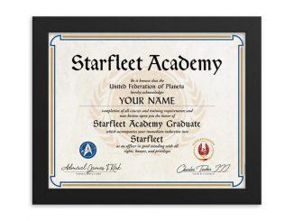 Personalized Star Trek Starfleet Academy Diploma