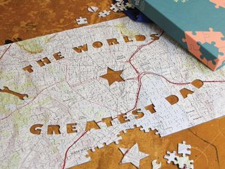Personalized World's Greatest Dad Map Puzzle