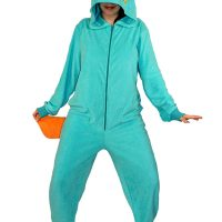 Phineas and Ferb Perry Hooded Footed Adult Pajamas