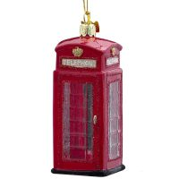 Phone Booth Christmas Ornament