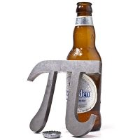 Pi Solid Steel Bottle Opener