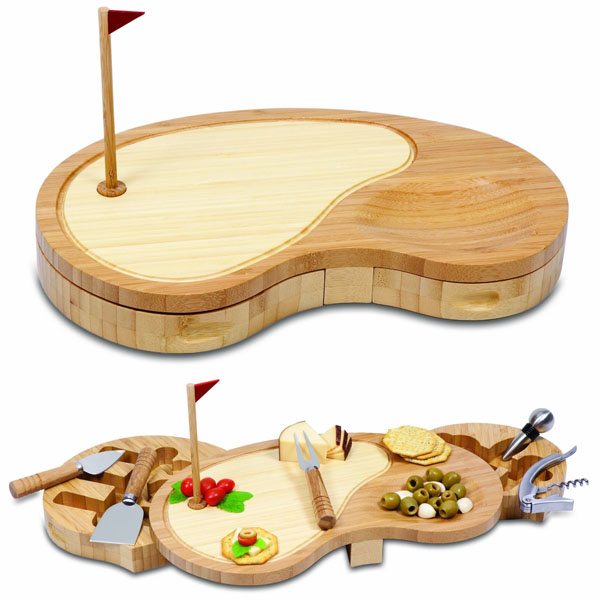 Picnic Time Sand Trap Cheese Board and Tool Set