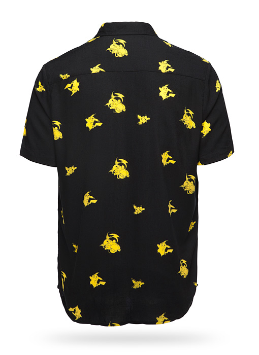Pikachu Evolution Short Sleeve Button-Up Shirt