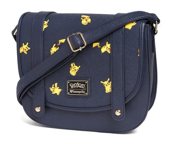 Pikachu Saffiano Vegan Leather Crossbody Bag