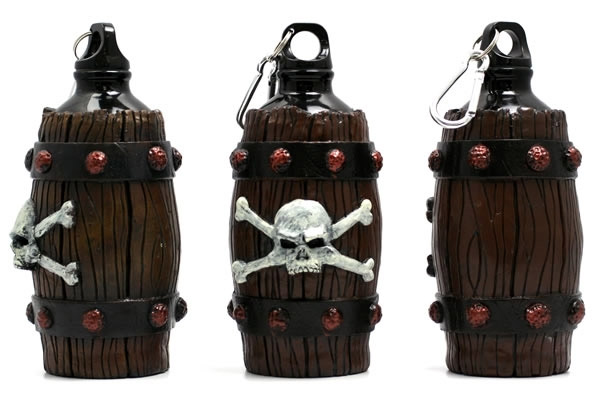 Pirate's Grog Barrel Water Bottle