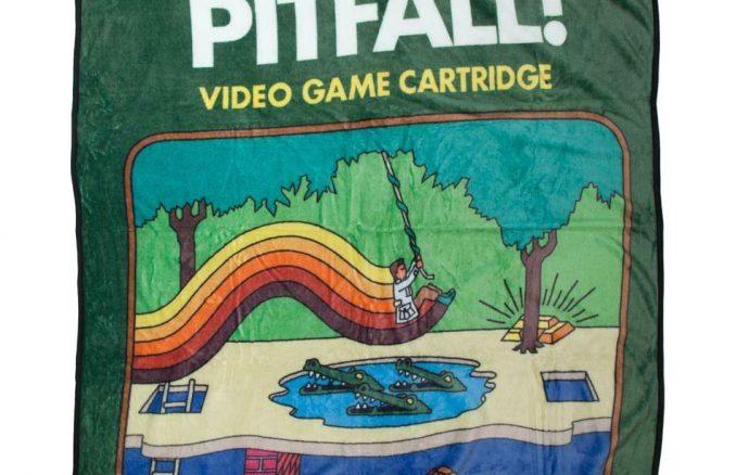 Pitfall Atari Cartridge Throw Blanket