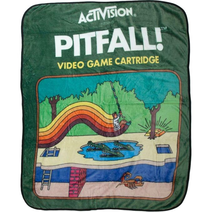Pitfall Atari Cartridge Throw Blanket