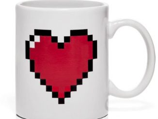 Pixel Heart Heat Changing Mug