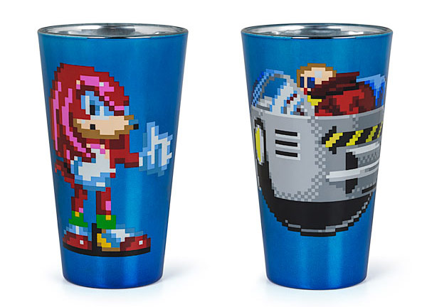 Pixelated Sonic Pint Glass Set