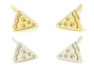 Pizza Stud Earrings