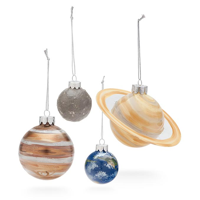 Planetary Glass Ornament Set