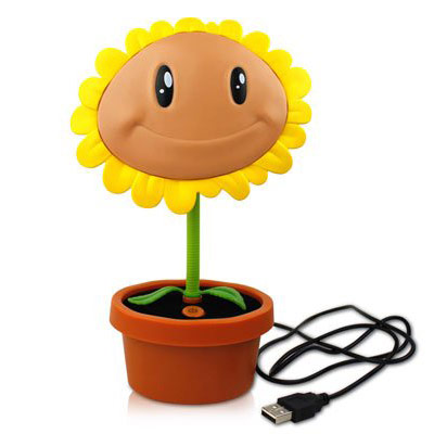 plants vs zombies sunflower led lamp. Black Bedroom Furniture Sets. Home Design Ideas