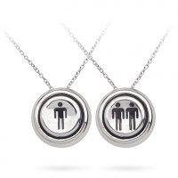 Player 1 Player 2 Pendant Necklace Set