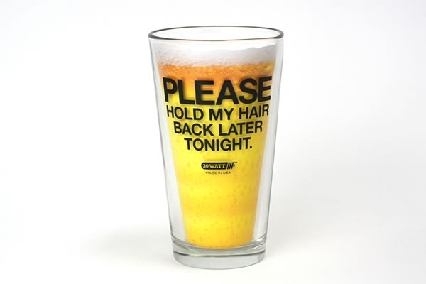 Please Hold My Hair Back Later Tonight - Pint Glass