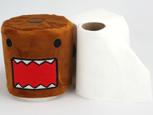 Plush Domo Toilet Paper Cover
