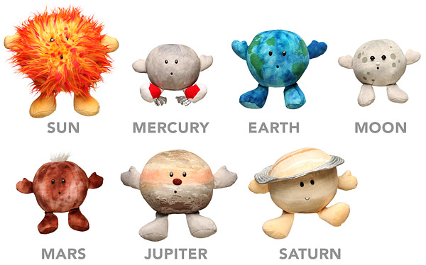 Plush Toy Planets