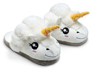 Plush Unicorn Slippers for Grown Ups