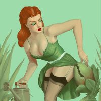 Poison Ivy Pin-Up Print small