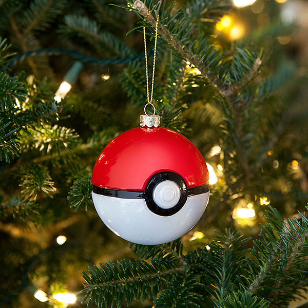 Poké Ball Glass Ornament Set