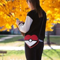 Poké Ball Heart Crossbody Bag
