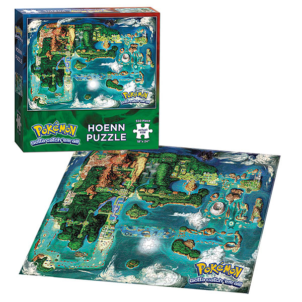 Pokémon Hoenn Map 550pc Puzzle