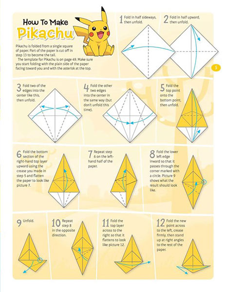 Easy Origami Pokemon: Pikachu, Charmander, and Squirtle | Pink ... | 600x464