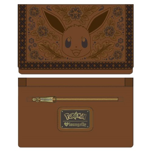 Pokemon Eevee Brown Embossed Wallet